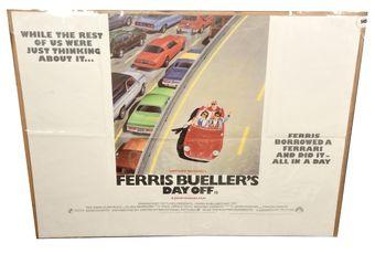 Ferris Bueller's Day Off UK Quad film poster, folded