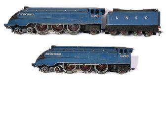 Hornby Dublo 3-rail pre-war unboxed EDL1 4-6-2 LNER blue A4 Class