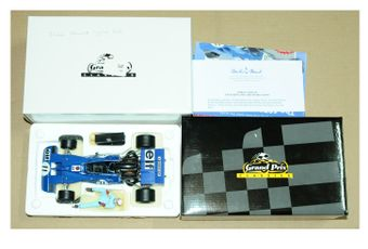 Exoto a boxed Tyrrell Ford 003 Jackie Stewart