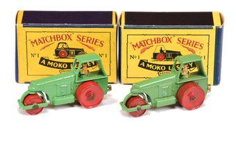 Matchbox Regular Wheels 2 x 1b Aveling Barford Diesel Road Roller