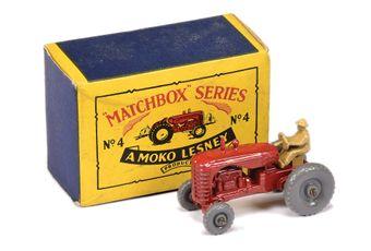 Matchbox Regular Wheels 4b Massey Harris Tractor
