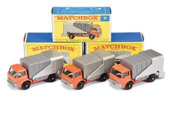 Matchbox Regular Wheels 3 x 7c Ford D800 Refuse Truck