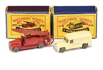 Matchbox Regular Wheels 9a Dennis Fire Escape