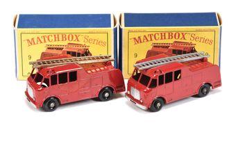 Matchbox Regular Wheels 2 x 9c Merryweather Marquis Fire Engine