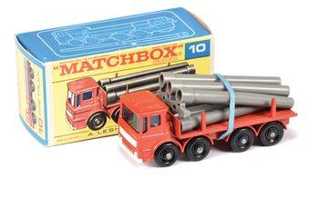 Matchbox Regular Wheels 10d Leyland Pipe Truck