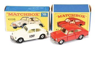 Matchbox Regular Wheels 15d Volkswagen Beetle Rally Car