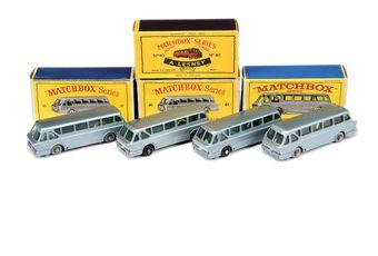 Matchbox Regular Wheels 4 x 40b Leyland Royal Tiger Coach