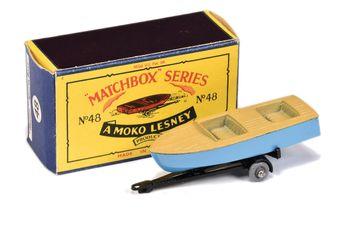 Matchbox Regular Wheels 48a Meteor Sports Boat & Trailer
