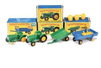 Matchbox Regular Wheels 2 x 50b John Deere Lanz Tractor