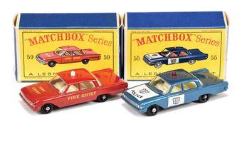Matchbox Regular Wheels 55b Ford Fairlane Police Car