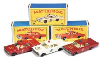 Matchbox Regular Wheels 55c Ford Galaxie Police Car