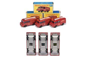 Matchbox Regular Wheels 3 x 57c Land Rover Fire Truck