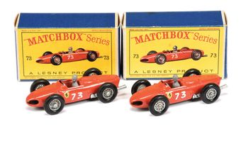 Matchbox Regular Wheels 2 x 73b Ferrari F1 Racing car