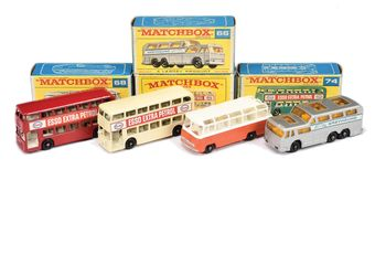 Matchbox Regular Wheels group of Buses & Coaches