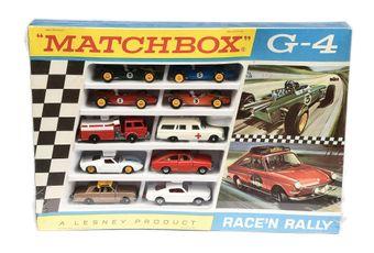 Matchbox Regular Wheels G4 Race 'n Rally Gift Set containing