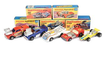 Matchbox Superfast group of Racing Cars & Dragsters