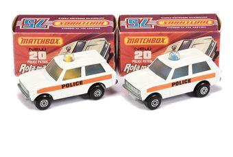 Matchbox Superfast 2 x 20b Range Rover Police Patrol