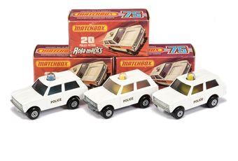 Matchbox Superfast 3 x 20b Range Rover Police Patrol