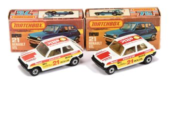 Matchbox Superfast 2 x 21c Renault 5 TL Rally Car Twin-pack Issue