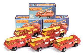 Matchbox Superfast 5 x 22c Blaze Buster Fire Engine