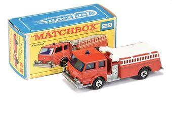 Matchbox Superfast 29a Fire Pumper Truck - red body