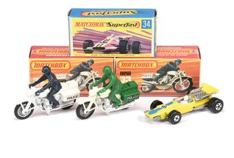 Matchbox Superfast 3 x 33c Honda Police Motorcycle (1)