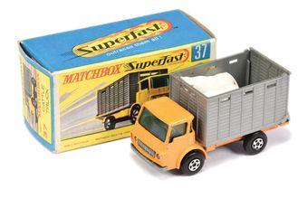 Matchbox Superfast 37a Dodge Cattle Truck - orange cab