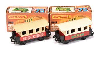 Matchbox Superfast 2 x 44c Passenger Coach (1) red