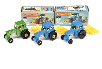 Matchbox Superfast 3 x 46c Ford Tractor (1) blue body