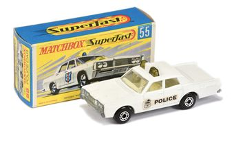 Matchbox Superfast 55a Mercury Park Lane Police Car