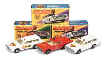 Matchbox Superfast 2 x 55b Mercury Commuter Police Car