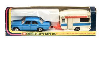 Corgi GS24 Gift Set comprising Mercedes 240D - blue