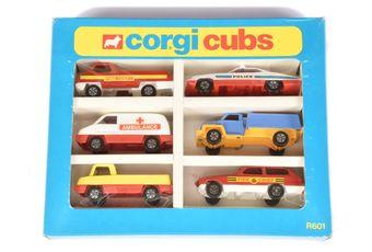 Corgi Cubs R601 6-piece Gift Set comprising Police Car