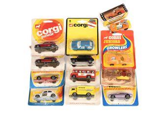 Corgi Juniors a group to include 3 VW Police Car - white