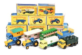 Matchbox Regular Wheels a boxed group to include 2 x 39 Ford
