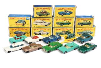 Matchbox Regular Wheels a boxed group to include 56 Fiat 1500