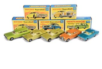 Matchbox Superfast a boxed group to include 73 Mercury Commuter