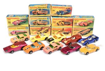 Matchbox Superfast a boxed group to include 3 Monteverdi Hai