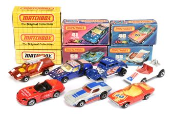 Matchbox Superfast a boxed group to include 68 Cosmobile