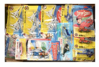 A mixed group of carded Gerry Anderson toys to include 3 x Vivid