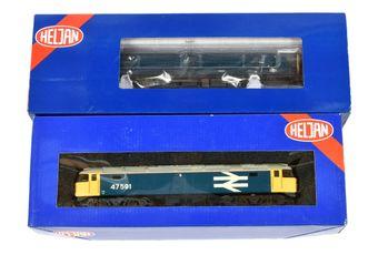 Heljan OO Gauge BR blue Diesel Locos comprising 4800 Co-Co large