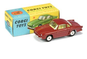 Corgi 222 Renault Floride - red body, pale lemon interior