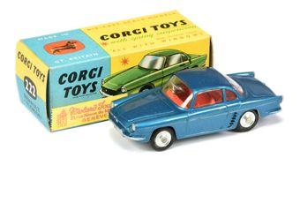 Corgi 222 Renault Floride - blue body, red interior