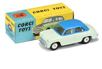 Corgi 202 Morris Cowley Saloon - two-tone mid-blue