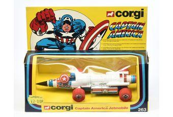 "Corgi 263 ""Captain America"" - Captain America Jetmobile"
