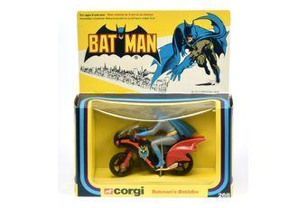 """Corgi 268 """"Batman"""" Batbike - black, red"""
