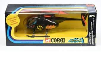"Corgi 925 ""Batman"" Batcopter - black, red interior"
