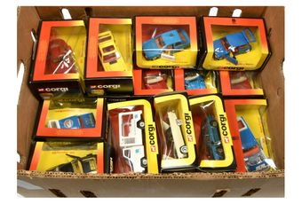 Corgi a large boxed group of model Cars to include 275 Austin