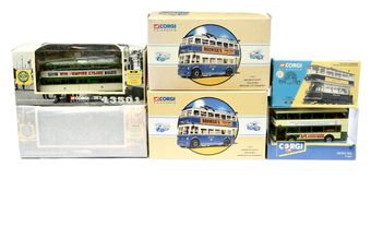 Corgi Classics a boxed group of Trams and Buses to include 2