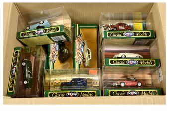 Corgi a boxed group of classic model Cars to include D739 Ferrari